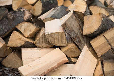 Firewood  stack, woodpile, stacked, pile, drying, hardwood