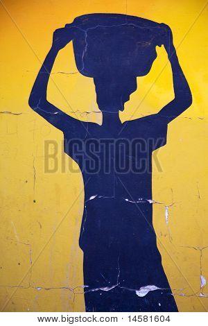 Blue Shape Of An African Woman