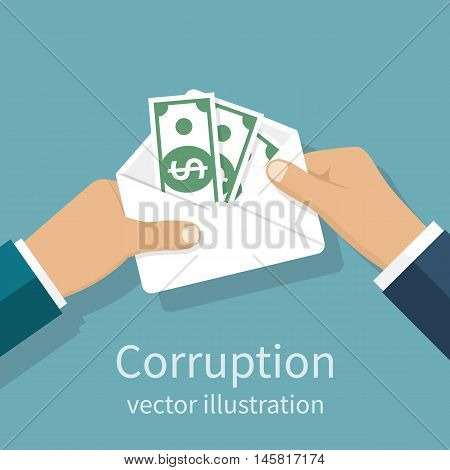 Bribery Concept Vector