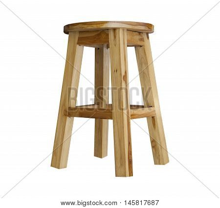 Wooden chair isolated on white background.Wooden Furniture.