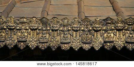 Tibetan decor of the Jokhang Temple, Tibet, Lhasa