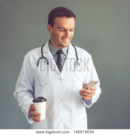 Handsome Doctor With Gadget