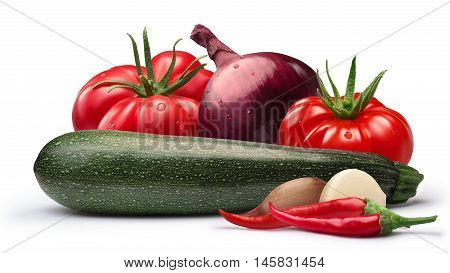 Tomato,zucchini, Onion For Canning,  Paths