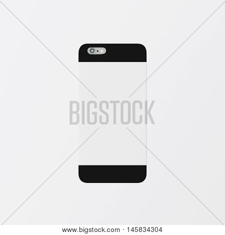 Closeup One Blank Black Clean Template Cover Phone Case Smartphone Mockup.Generic Design Mobile Back Isolated Empty Background.Ready Corporate Logo White Label Message.3d rendering