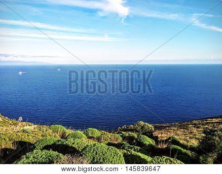 Mare di ottobre nel sud della sardegna