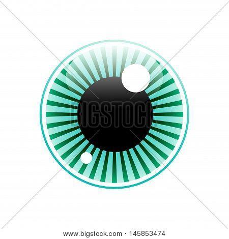 Vector sign eye iris on white background