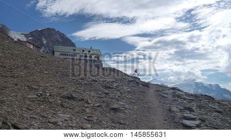 Heinrich Schweiger Hut In Austrian Alps