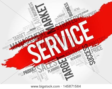 SERVICE word cloud business concept, presentation background