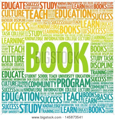 BOOK. Word education collage , presentation background