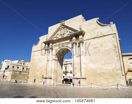 Historic Gate Leading To Lecce, Italy