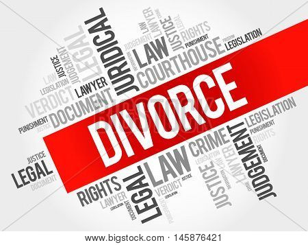 Divorce word cloud concept , presentation background