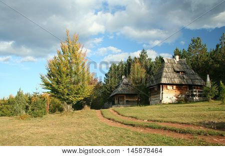 The open air museum, Sirogojno in Serbia