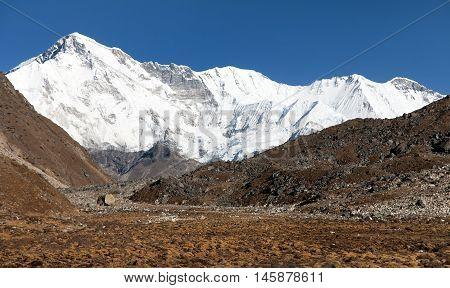 Mount Cho Oyu - way to Cho Oyu base camp - Everest area Sagarmatha national park Khumbu valley Nepal