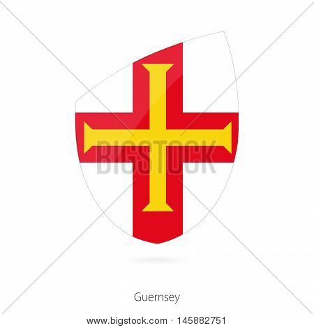Flag of Guernsey in the style of Rugby icon. Vector Illustration.