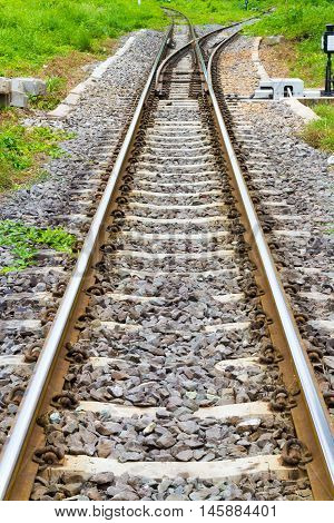 railway track in the country for transportation