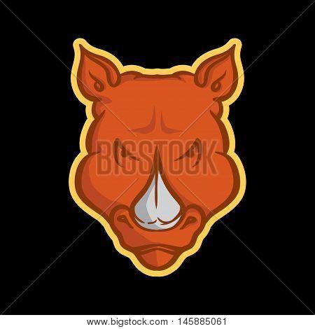 Rhino Mascot, Rhino Logo Concept, Rhino icon