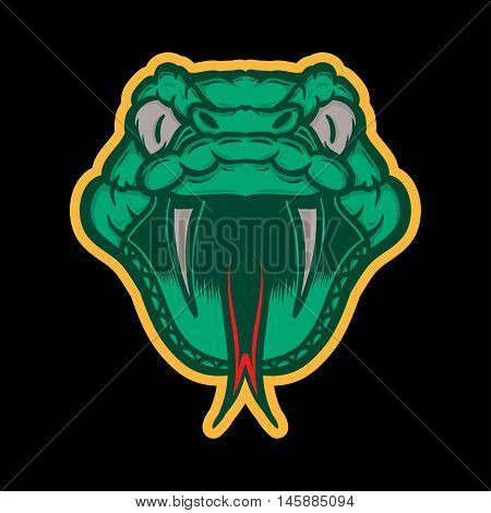 Snake Mascot, Green Snake Logo Concept, Snake icon