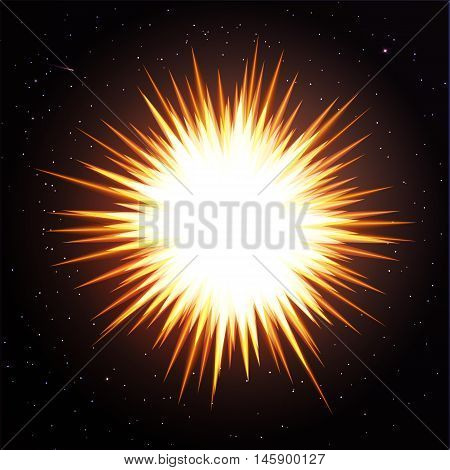 vector illustration. abstract background cosmos. the explosion of a star in space to the galaxy. Stars meteor.
