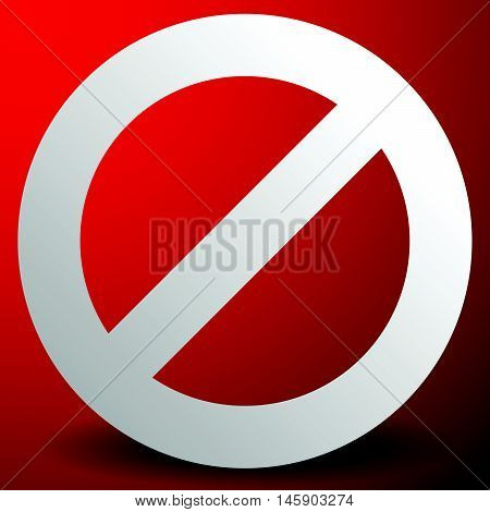 Red Prohibition, Restriction Sign - Rejection, Closed, No Entrance, Stop Sign, Icon