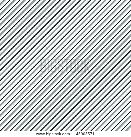 Diagonal Lines Seamless Repeatable Pattern. Oblique, Slanting Lines Grayscale Pattern / Texture.
