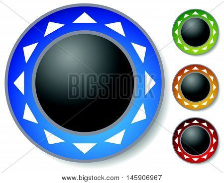 Control Button, Joystick With Arrows Around. Alignment Concept