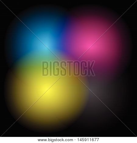 Transparent Cmyk Circles Blended - Cmyk, Printing Color Space