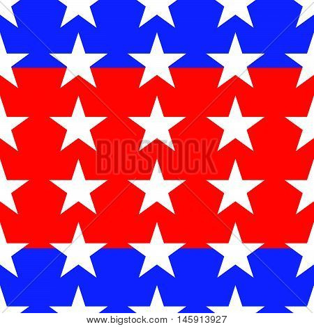 Blue And Red Colored Seamless Star Pattern / Background