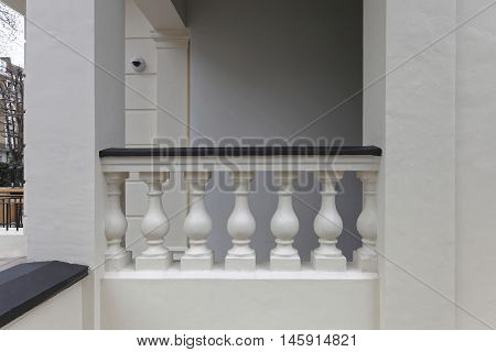 Decorative Balustrade Made From Concrete Columns at Terrace