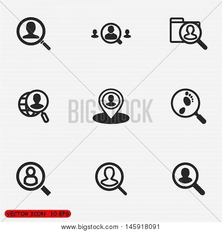 People search icons. find people icon. One of set web icons