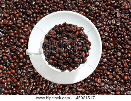Cup Of Coffee Top View