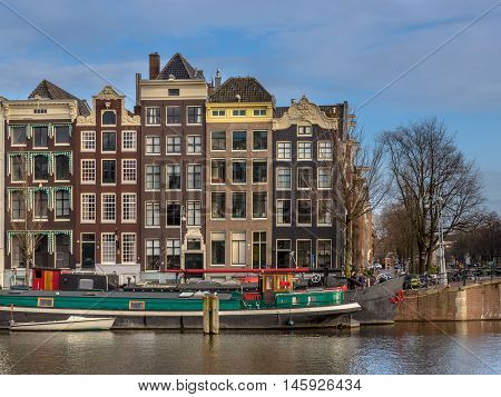 Canal Houses On The Amstel Amsterdam