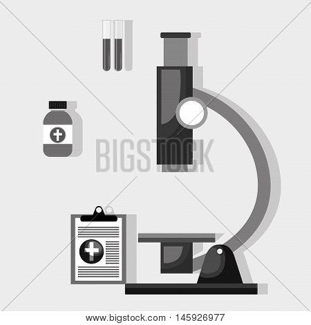 microscope clipboard medicine icon vector illustration eps 10