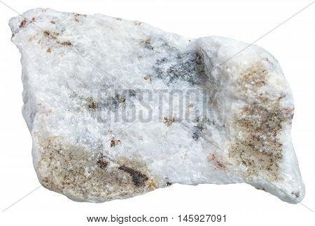 Carbonatite Stone Isolated On White Background