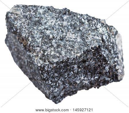 Natural Amphibolite Stone Isolated On White