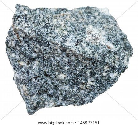 Diorite Mineral Isolated On White Background