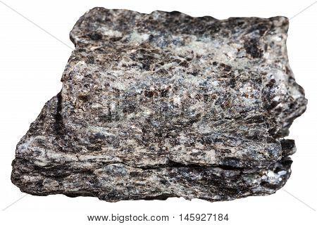 Quartz-biotite Schist Mineral Isolated On White