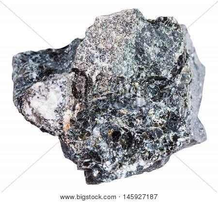 Stone Of Magnetite Ore Isolated On White
