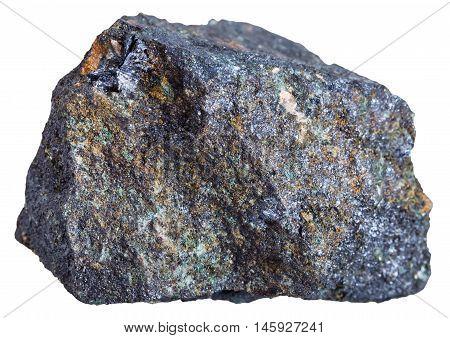 Molybdenite Rock Isolated On White
