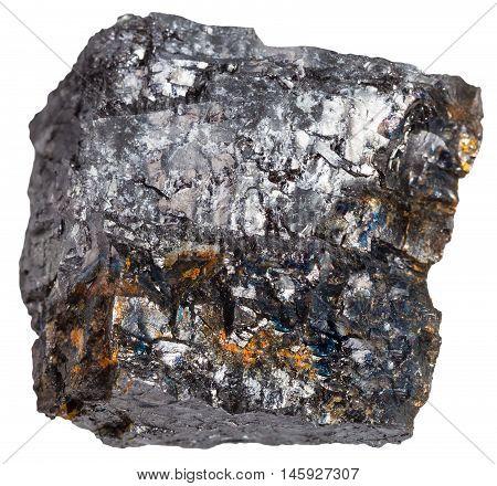 Black Coal (bituminous Coal) Mineral Isolated