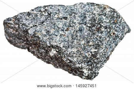 Nepheline Syenite Stone Isolated On White