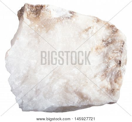Anhydrite Mineral Isolated On White Background