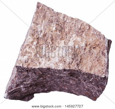 Siltstone Stone Isolated On White