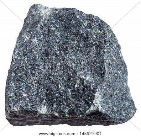 Gabbro Stone Isolated On White Background