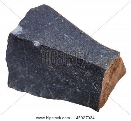 Glassy Basalt ( Hyalobasalt) Mineral Isolated