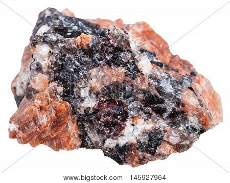 Natural Red Granite Stone Isolated