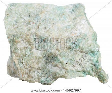 Listvenite (listwanite) Mineral Isolated On White