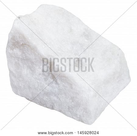 White Marble Mineral Isolated