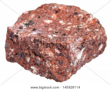 Red Dacite Stone Isolated On White