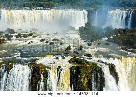 Iguazu Falls National Park in Parana State, border of Brazil and Argentina