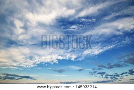 Blue sky texture. Deep blue sky at sunny day